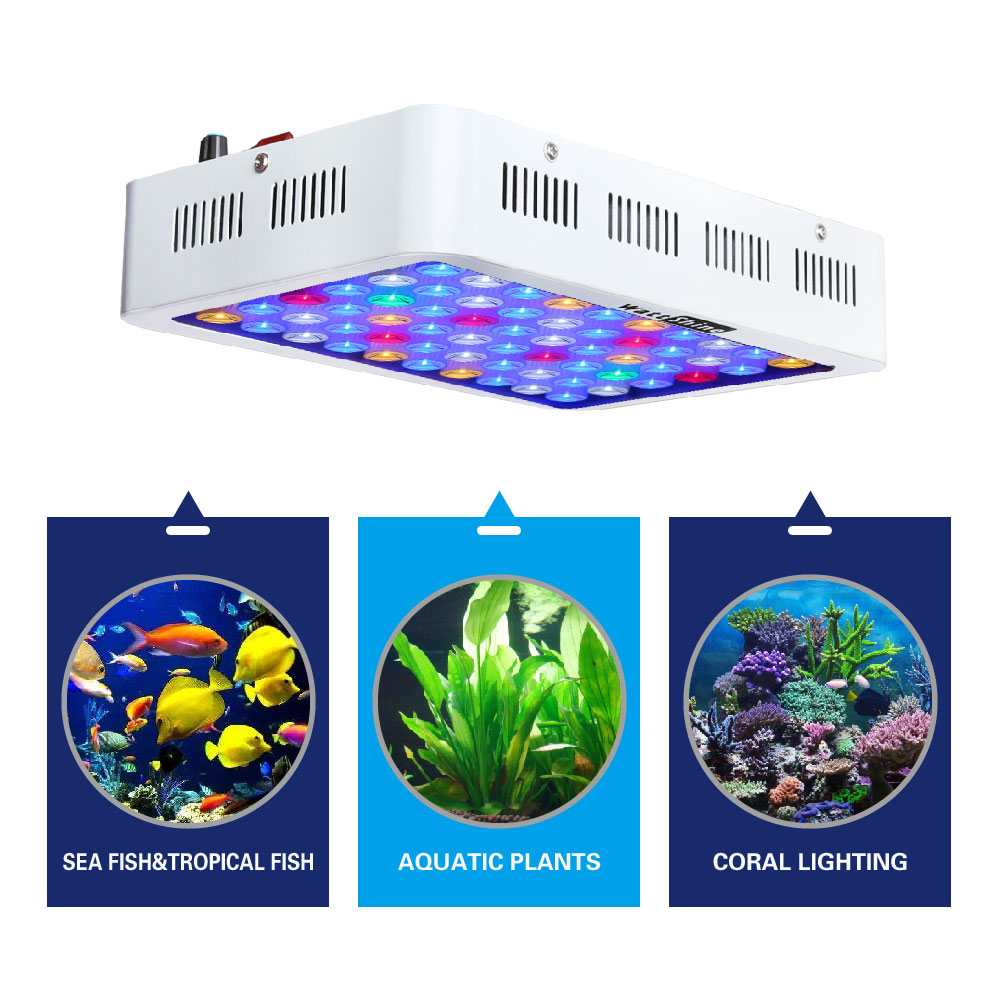 2017 Dimmable 180W led aquarium light Fish tank Free shipping Coral raise plants Ornamental fish Aquatic Underwater life Fill