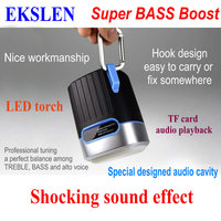 EKSLEN P1 Bluetooth Speaker with Radio FM TF card Micro SD LED light torch Waterproof Promotional Outdoor Wireless MP3 for Phone