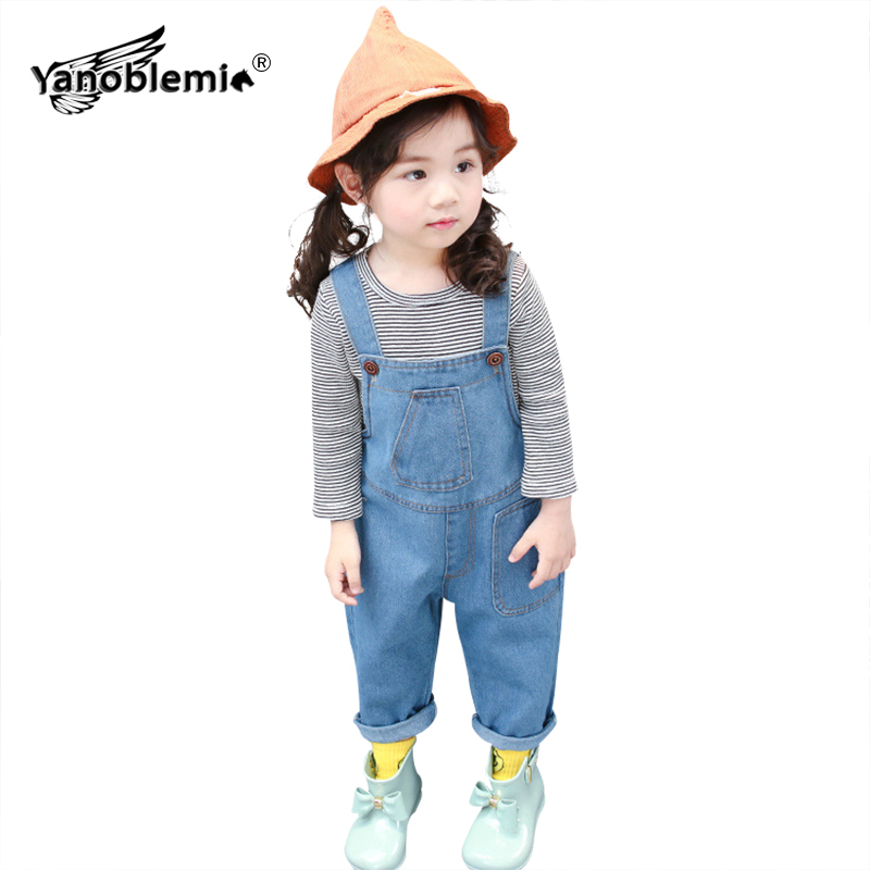 183a053b65f1 New Spring And Autumn Children s Overalls For Girls And Boys Denim ...