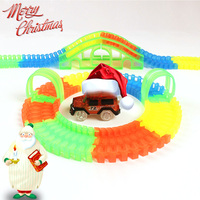 Glow Race Track Set Flicker In The Dark Assembly Toy DIY Track Assembly Glowing Racing Car