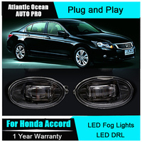Auto Pro Car Styling LED Fog Lamps For Honda Accord Led DRL With Lens For Honda