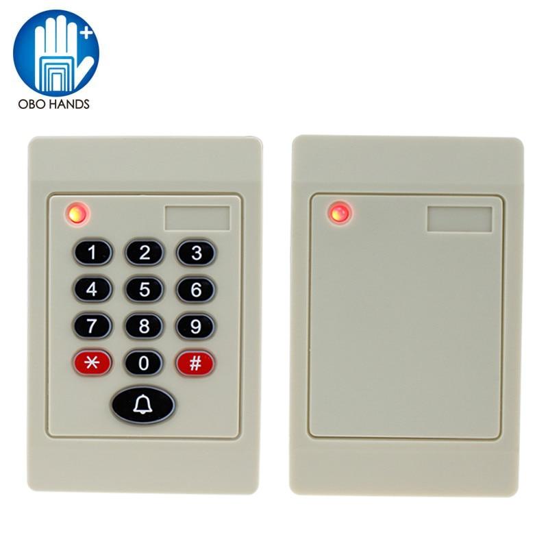 Waterproof Door Entry Electronic Proximity Smart 125khz rfid card reader with Keydoard