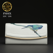 Pmsix 2017 fashion Clutch new first layer of leather money bag dinner the fashion leather wallet women high-capacity P410008