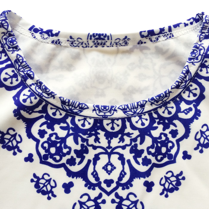 b3bd15bc543 Vintage 2 piece Set Women Porcelain Print Shorts and Crop Top Set Summer  Style Elastic Waist Pockets Pants Twin Women s Set Blue-in Women s Sets  from ...