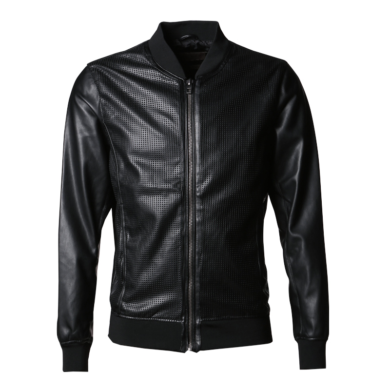 Popular Faux Leather Bomber Jacket Men-Buy Cheap Faux Leather
