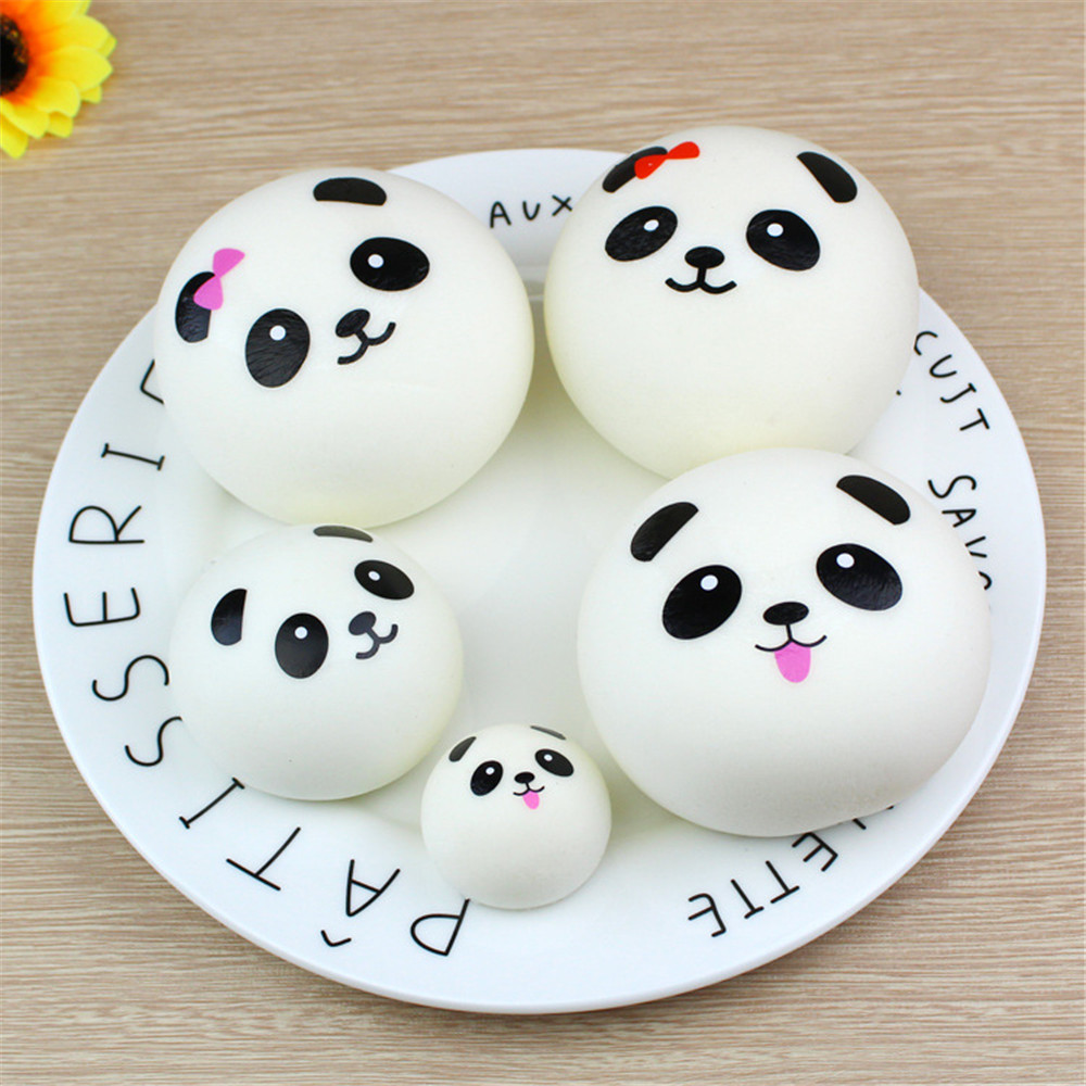 Cute Simulation Panda Bread Squeeze Slow Rising Cream Scented Decompression Toys Decoration Squishes Slow Rising Toy For Kids A1