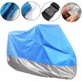M/L/XL/XXL Motorcycle Cover Waterproof Outdoor Motorbike Rain Vented Polyester Bike Cover Moped Sun Cover UV Protector