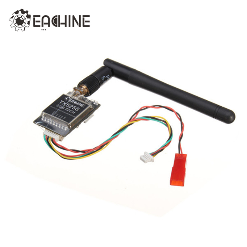 Original Eachine TX5258 5.8G 72CH 25/200/500/800mW Switchable FPV Transmitter Support OSD Configuring For RC FPV Drone
