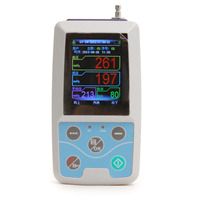 CE/FDA di động và tốt hình Màn Hình LCD Ambulatory Blood Pressure Monitor + Tự Động 24 h BP đo lường Blood Pressure Monitor