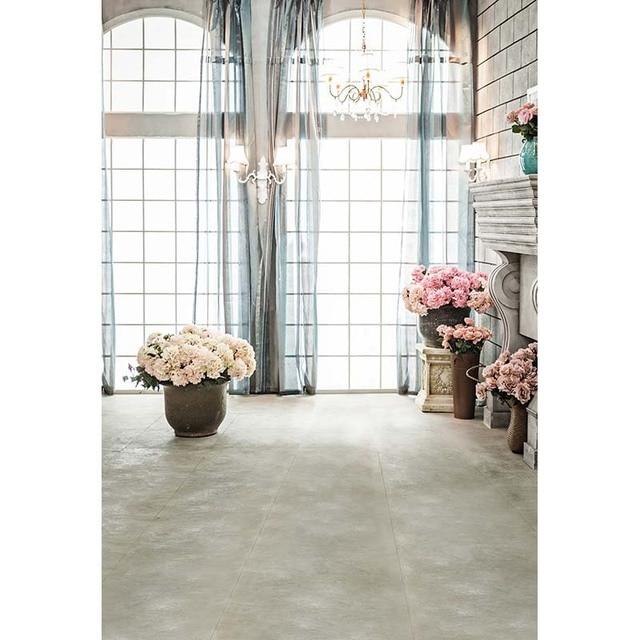 Indoor Vinyl Cloth Window Flowers Interior Room