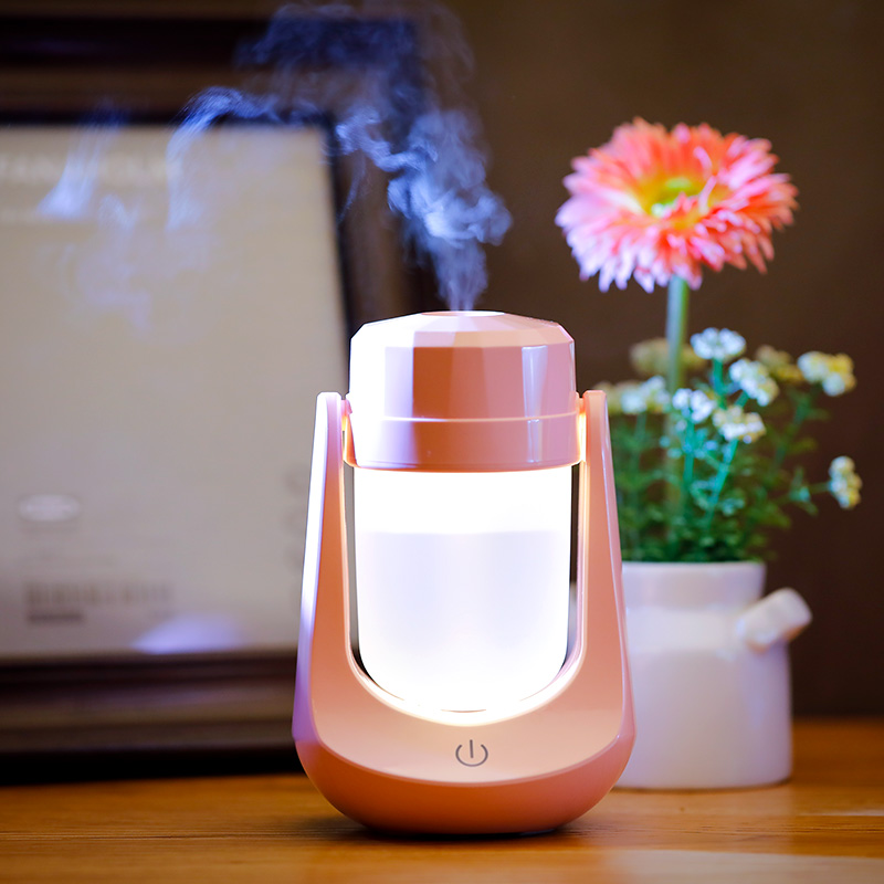 U Shape Cool Humidifier With 180°Rotation Mute Design Mist Maker With Intelligent Colorful Night Light Technology