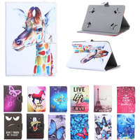 Universal Cover For OVERMAX QUALCORE 1027 3G 10.1 inch Tablet Printed PU Leather Stand Case