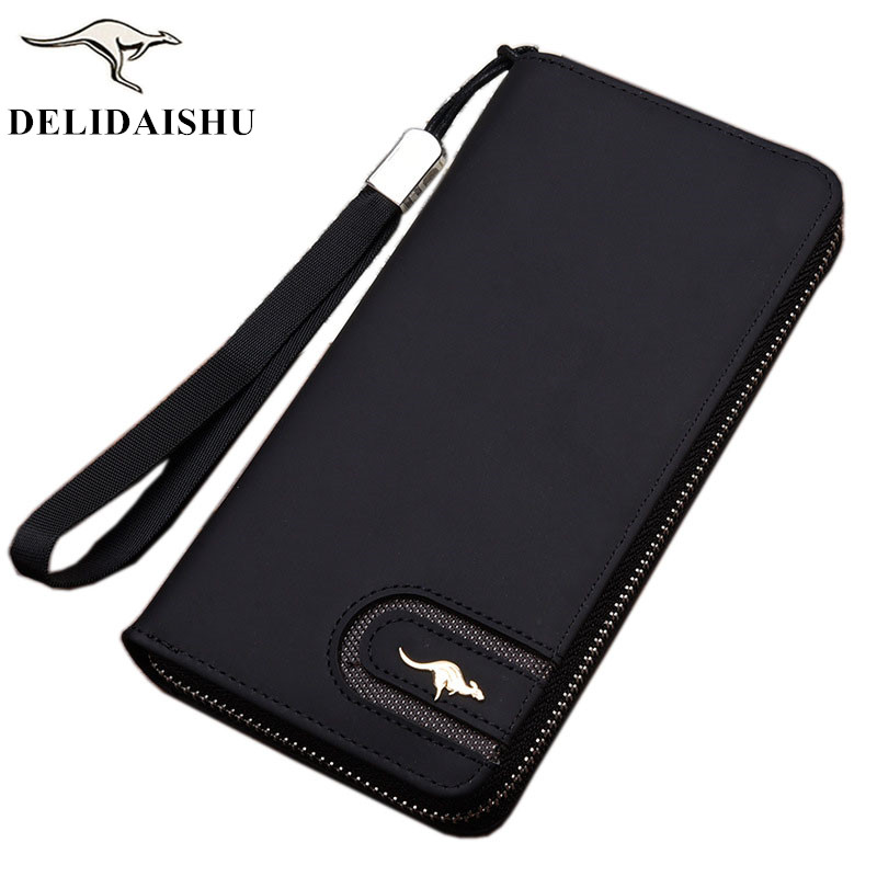 2018 Brand kangaroo men wallets Casual wallet men purse Clutch bag Nubuck leather wallet long design men bag gift for men 2017 new fashion men wallets casual wallet men purse clutch bag brand leather long wallet design hand bags for men purse