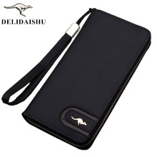 2018 Brand kangaroo men wallets Casual wallet men purse Clutch bag Nubuck leather wallet long design men bag gift for men