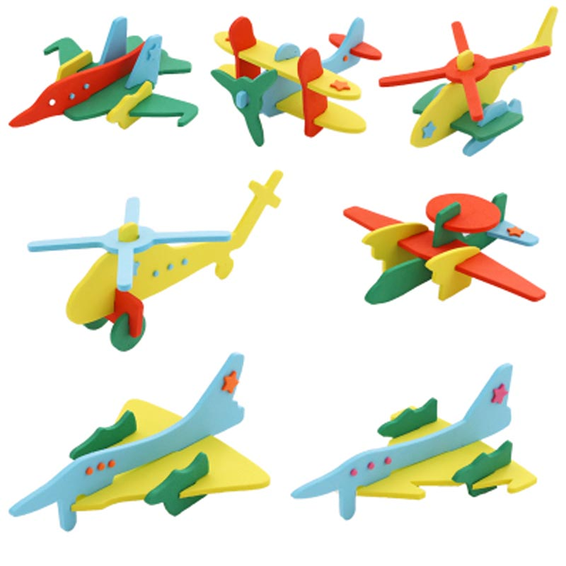 5Set Paper Aircraft  3D Puzzles Jigsaw Model Toys For Kids DIY Craft Gift