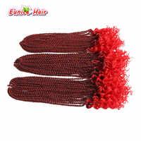 Crochet Zöpfe 16 zoll Synthetische Pre zusammengerollt Häkeln Haarverlängerungen Ombre Grau # 1B/27 30 stränge Lockige Senegalese Twist Geflecht Haar