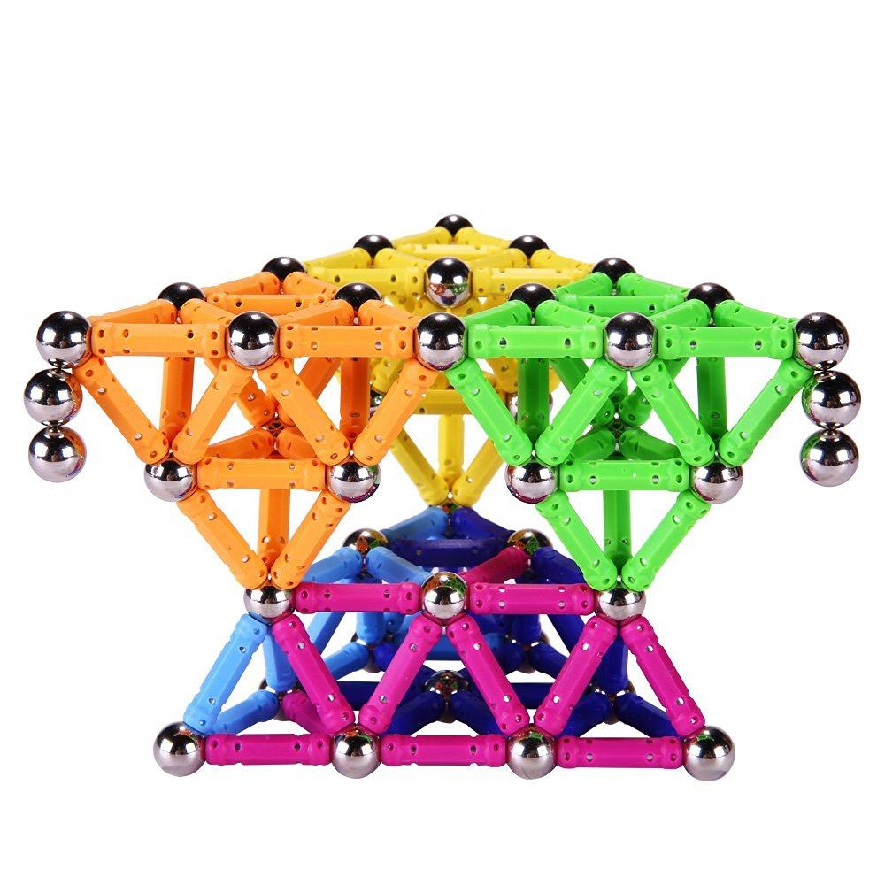wholesale Magnet Toy Bars Magnetic Building Blocks Construction Toys For Children Designer Educational Toys For Kids Metal Balls|Blocks| |  - title=