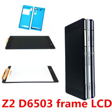 Tested LCD Display For Sony Xperia Z2 D6502 D6503 D6543 L50W D6502D Touch screen Digitizer Assembly Frame original lcd display touch screen digitizer for sony xperia z2 l50w d6502 d6503 assembly replacement