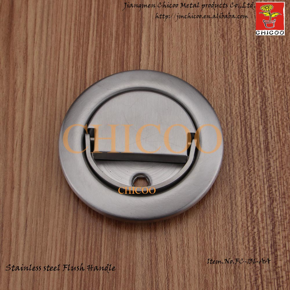Stainless Steel circle Recessed Handle Cup Handle Flush door handle circle