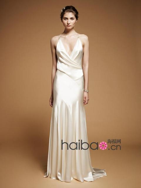 Clean lines of asymmetric division sense of design classic cut dress