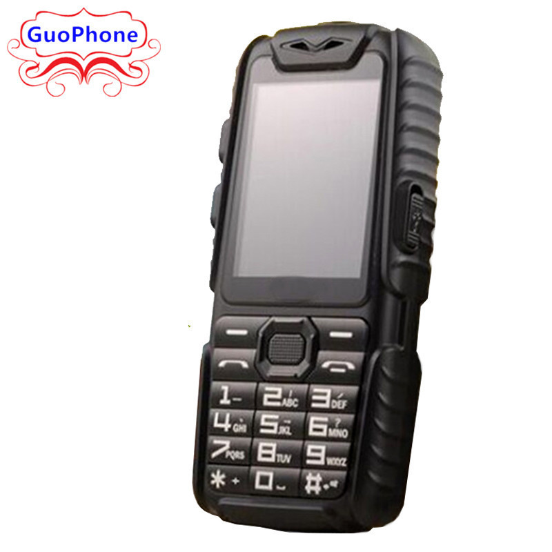 WaterProof GuoPhone A6 Rugged Power Bank Phone With 2.4 Shockproof 0.3MP Loud Speaker Flashlight Dual SIM Senior Outdoor Phone