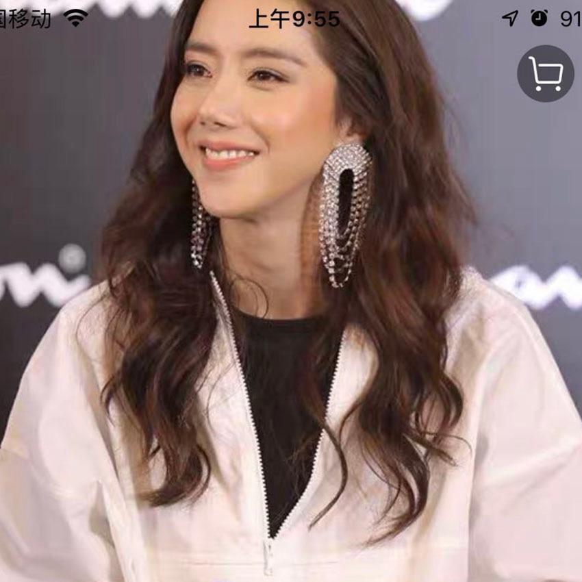 Detail Feedback Questions about Korean luxury star with silver multi layer tassel  earrings Personality fashion catwalk earrings Personalized wild earrings ... 8553fefa88af