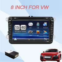 Wholesale 2 Din 8 Inch Car DVD Stereo Player For VW Volkswagen Passat POLO GOLF Skoda