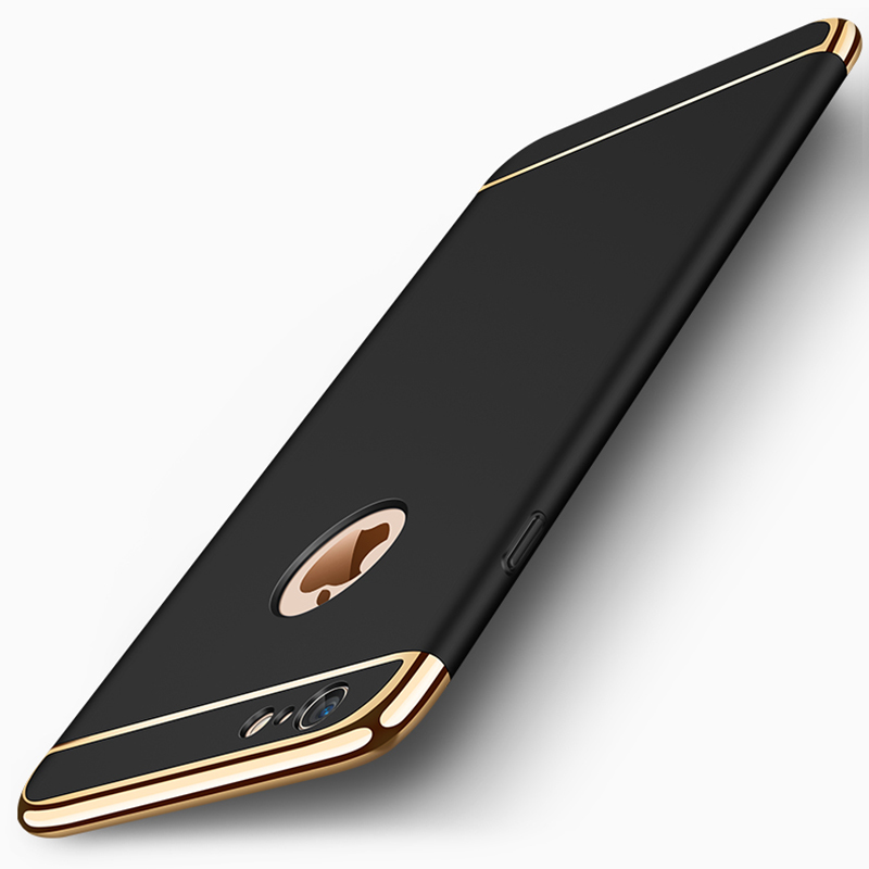 Hybrid 3 In 1 Joint Metal Plating Hard Back Cover For Iphone 6 6S Plus 7 8 8 Plus X Rose Gold Phone Fundas Coque Cases