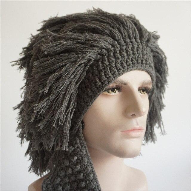 d73cd16fd0e New Wig Beanie Men Women Caps Rasta Handmade Crochet Winter Hats Gorro  Rasta Funny cap Halloween Xmas Birthday Party Costumes
