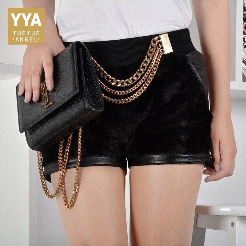 Short 2019 En Taille Black Femmes Mode Court Femelle Fourrure De Pantalone Streetwear Pantalon Mince Cuir Mi Élastique Mini Maigre Nouvelle coréen t5dZq