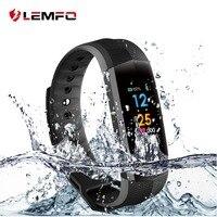 LEMFO CD02 Waterproof Fitness Bracelet Bluetooth Color Lcd Screen Sport Wrist Band Smart Watches Heart Rate