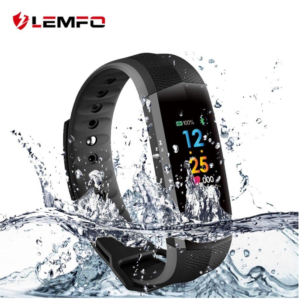 Lemfo CD02 Водонепроницаемый Фитнес браслет bluetooth Цвет ЖК Экран Спорт запястье умные часы сердечного ритма трекер PK Mi band 2