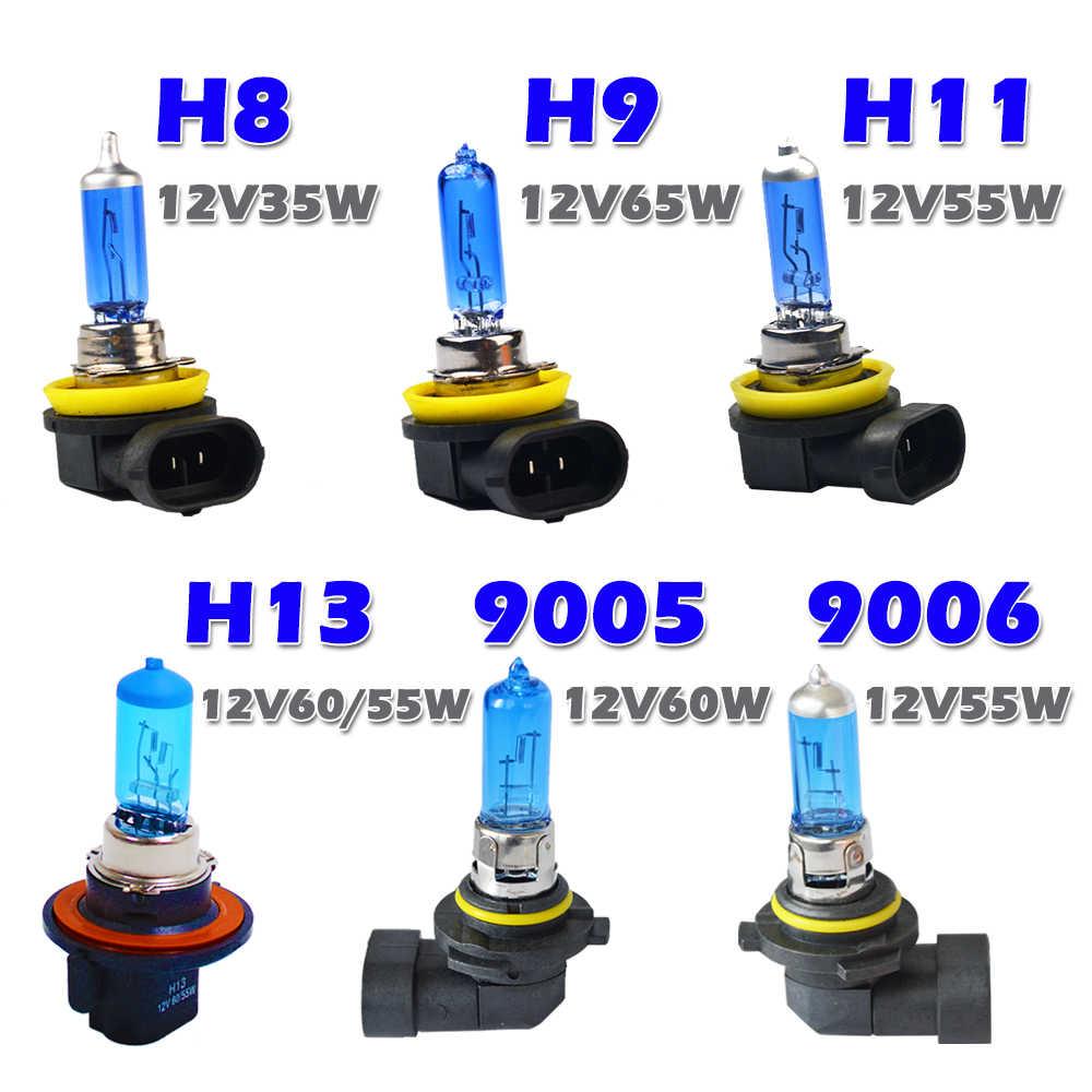 Hippcron галогенная лампа H7 H4 H3 H1 H8 H9 H11 9005 HB3 9006 HB4 Автомобильные светодиодные лампы фар 12 V 55 W 60 W/55 W 5000 K супер белый кварцевый Стекло