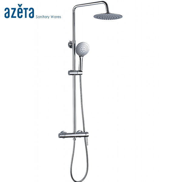 Good Quality Wall Mounted 8inch Rainfall Shower Head Shower Set Bathroom Chrome Plated Shower Tap Round
