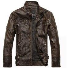 Nowy przyjeżdża marka skóra motocyklowa kurtka męska skórzana kurtka jaqueta de couro masculina męskie kurtki skórzane