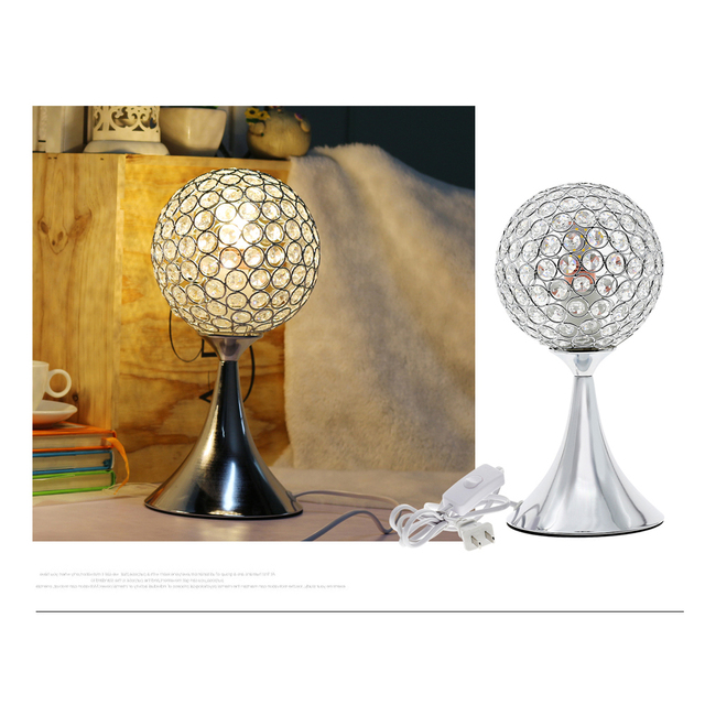 Round Shaped Crystal Lamp