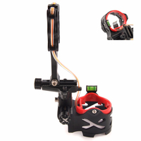 5 Pin Bow Sight with Sight Light and Green Bubble Level for Compund Bow Archery Hunting Shooting