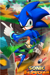 Affiche de tableaux modernes Sonic   Affiche de décoration en tissu et soie, pour salon, Art mural, cadeau pour enfants