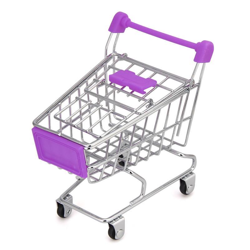 OUSSIRRO MINI Shopping Cart Kids Toy Creative Desktop Shelves Puff Storage Rack Drop Shipping Happy Sale ap705 ...