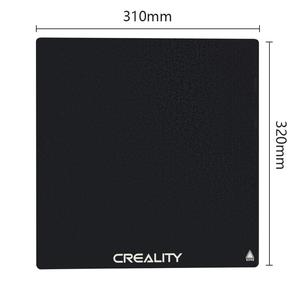 CREALITY 3D Printer CR-10S PRO/CR-10S PRO V2/CR-X Black Carbon Silicon Crystal Tempered Glass Build Hotbed Platform Build Plate(China)