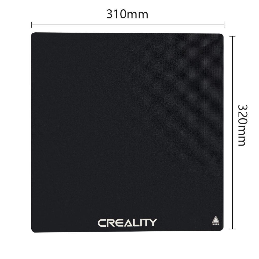 Impressora CRIATIVIDADE 3D CR-10S PRO/CR-X Construir Viveiro De Cristal De Silício De Carbono Preto Plataforma 310*320 MILÍMETROS Para CR-10S PRO/CR-X Construir Placa