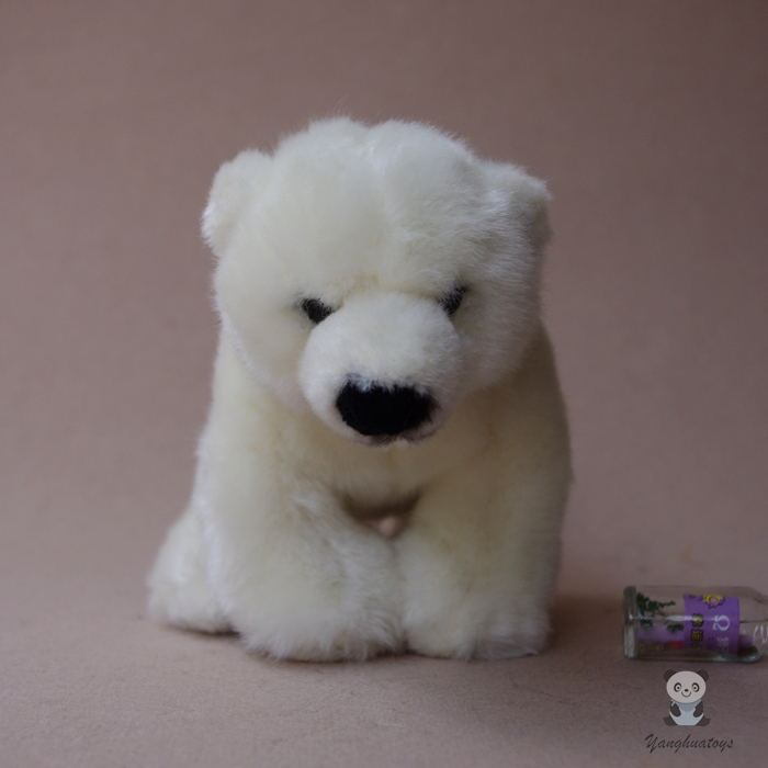 Cute Baby Polar Bear Doll Toy Stuffed  Animal Gifts For Girls Soft Toys