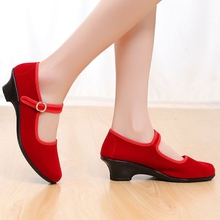 fitnenss Shoes For Women Black Red Wear-resistant Square High-heeled Female