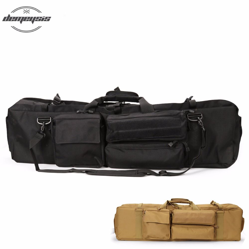 High Quality 1000D Nylon Tactical Gun Bag Large Sports Outdoor Carrying Shoulder Gun Bag Hunting Shooting Bag for Rifle M249 blk tree leaf sand hunting tactical rifle gun bag 1000d oxford fabric airsoft gun case shoulder bag heavy duty gun carrying bag