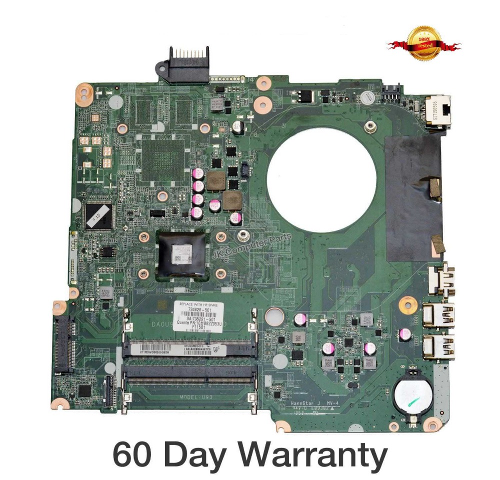 Top quality , For HP laptop mainboard 15-N  734826-501 734826-001 laptop motherboard,100% Tested 60 days warranty laptop notebook motherboard system board 734826 501 734826 001 for hp pavilion touchsmart 15 15 n a4 5000m series 100% tested