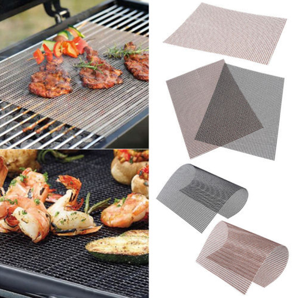 1PC BBQ Grillmatten Teflon Barbecue Grill Matte Baking Sheet Meshes Portable Outdoor Picnic Cooking Tools