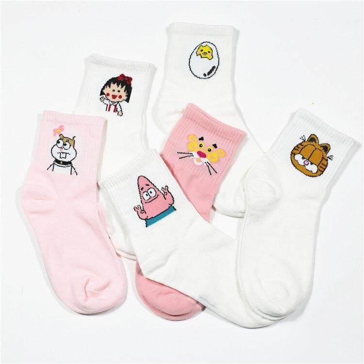 High Quality Cute Elegant Lovely Kawaii Cartoon Sweet Harajuku Cotton Women   Socks   Animals Character Casual Short   Socks   Hot ZM-06