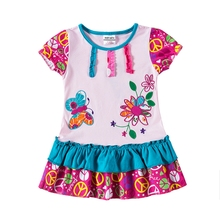 Girl Dresses Summer Party Baby Girl Clothes Kids Dresses for Girls Costume Children Princess Dress Vestidos H7113 new 2017 summer autumn girl dress stripe cartoon cute children dresses side 2 pockets cotton vestidos girls clothes kids costume