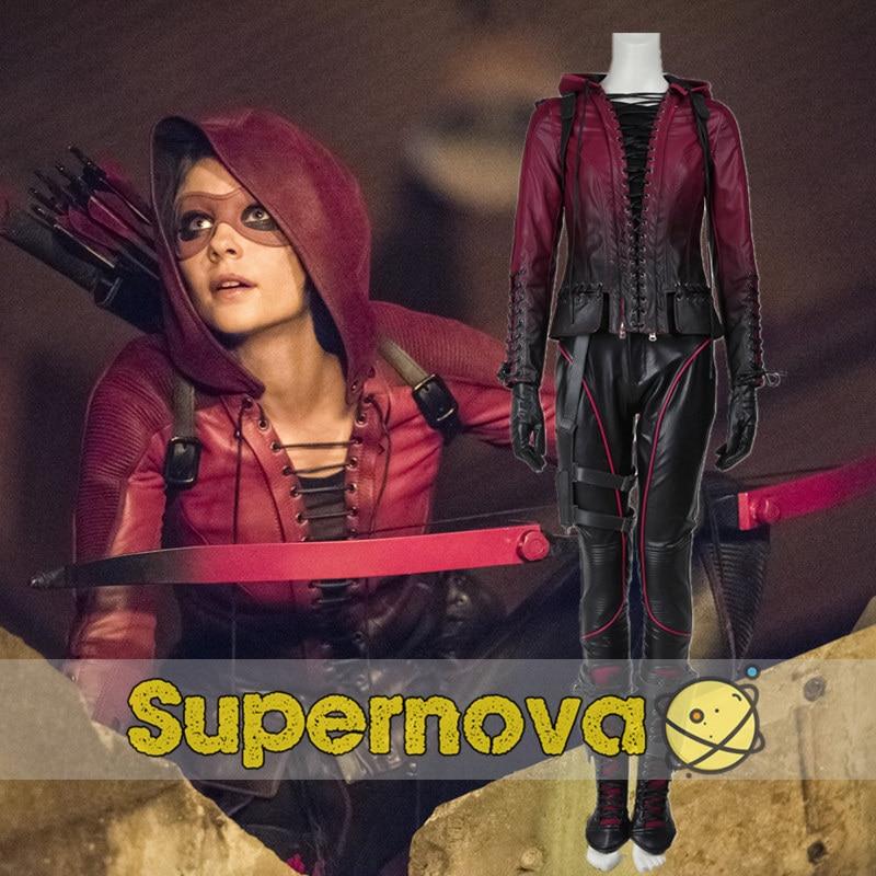 Green Arrow Thea Queen Costume Arrow Season 4 Speedy Cosplay Costume Adult Women Superhero Halloween Costume Custom Made