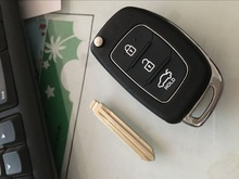 3Button Flip Remote Key for Hyundai I20 433MHZ 4D60 chip